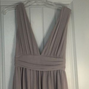 Lulu's Dresses - Heavenly Hues Light Grey Maxi Dress